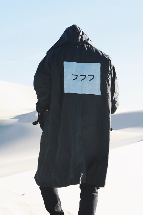 Image of 018-Black Water Repellent Soulja Trench