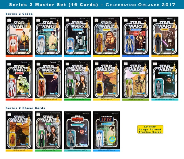 Image of Series 2 MASTER set Vintage Card Back Trading Cards (set of 16): Celebration Orlando 2017
