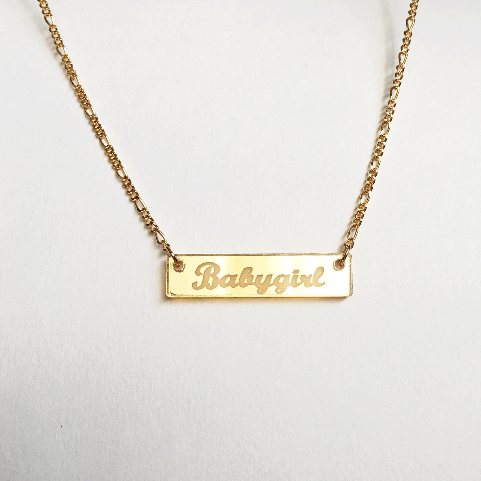 baby gold necklace my
