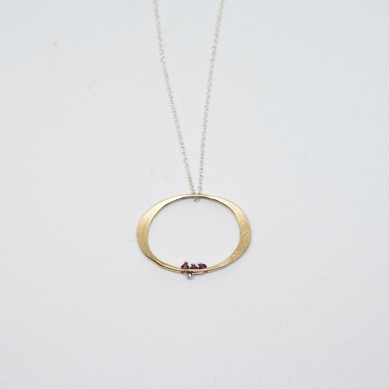 Image of Ruby oval necklace