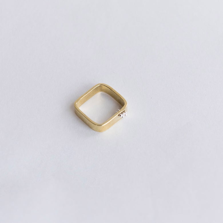 Image of Square bits ring