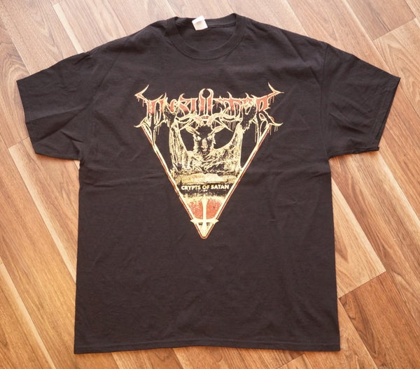 Image of T-Shirt Crypts of Satan red/yellow