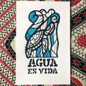 Image of Agua Es Vida Print