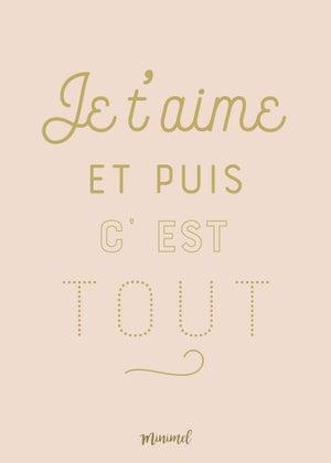 Image of Affiche Je t'aime A3