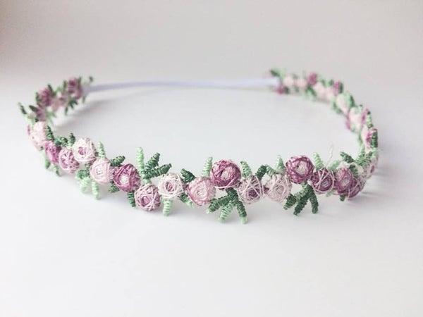Image of Plum Floral Headband