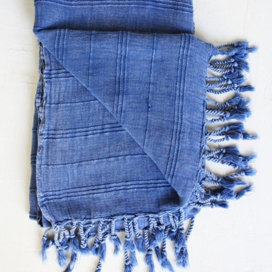 Image of Blue Stonewashed Towel