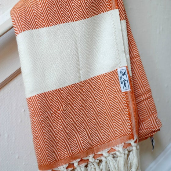 Image of Orange Chevron Towel