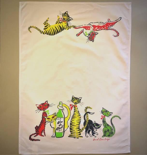 Image of Cat Crazy Tea Towel