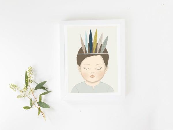 Image of Affiche Le Petit Indien A3