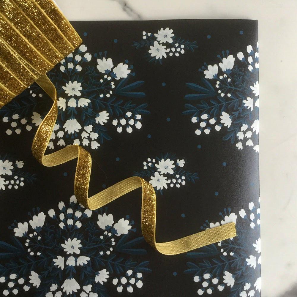 Image of 2 sheets of A2 folk floral gift wrap