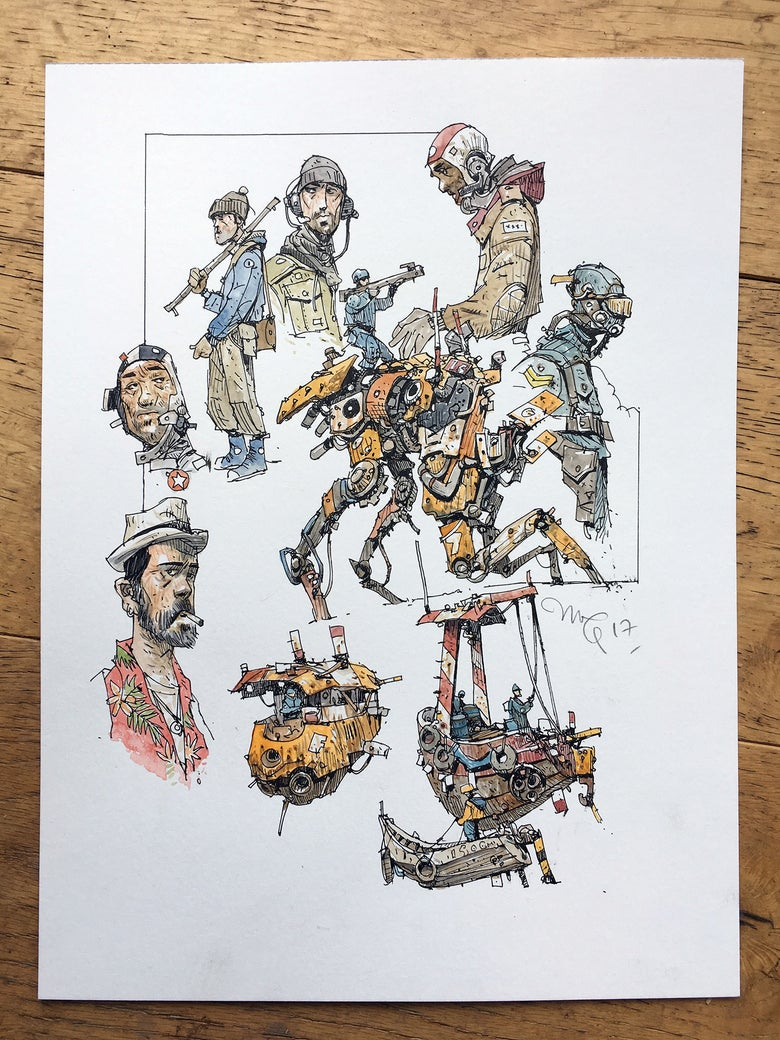 "Image of ""Mechanics"" original artwork."