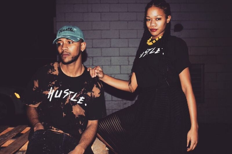 "Image of Black ""Hustle."" Tee"