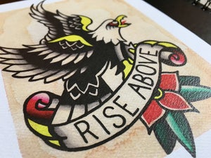 Image of Rise Above Eagle Print