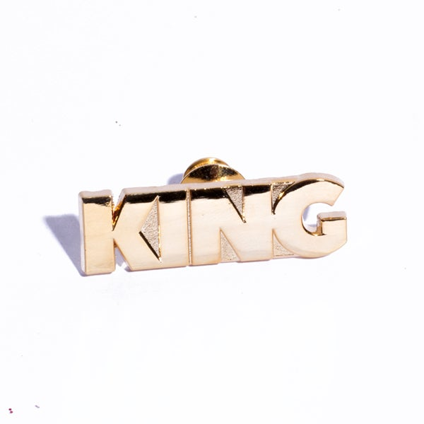 Image of King Gold Plated Enamel Pin