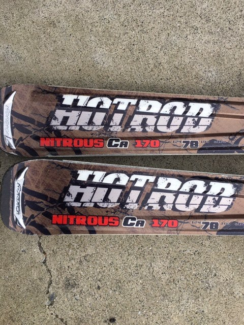Image of Nordica Hot Rod Nitrous Ca 170 Skis with Nordica EXP 25 bindings