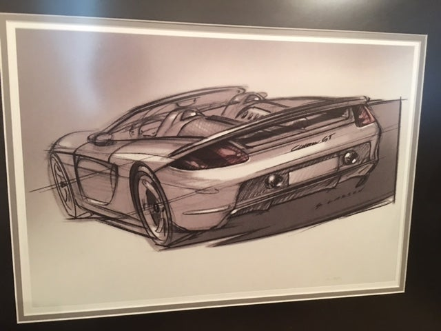 Image of Carrera GT Porsche Sketch Owners Gift By Designer Grant Larson