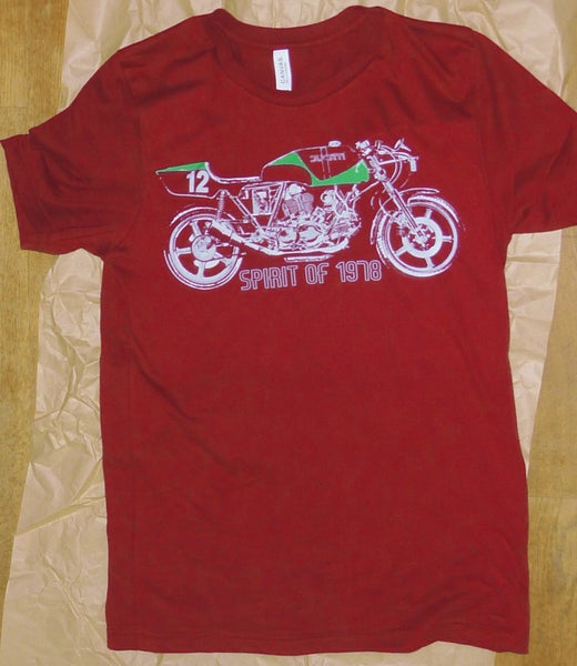 Image of Ducati Spirit of 1978 t shirt (red) + free UK postage! Sorry only size M left