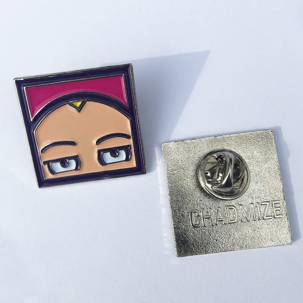 Image of CHIZZY HEAD Enamel Pin (Pink)
