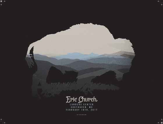 Image of Eric Church Buffalo Poster