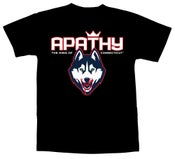 Image of Apathy King of Connecticut T-Shirt - Black Tee