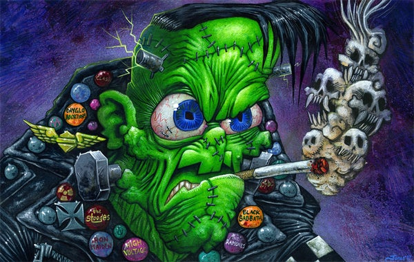Image of 'Franken-Punk' Original Painting