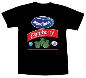 Image of Ammo Spray Blam-berry T-Shirt - Black Tee