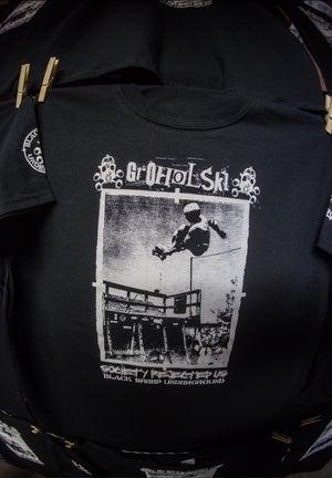 Image of Groholski Society Rejected Us Pro Black ts