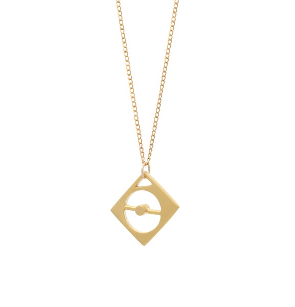 Image of Compass Gold Necklace