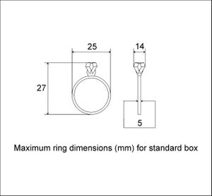 Image of Diamond shape walnut wood ring box by Woodstorming