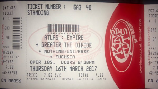 Image of Greater the Divide @ King Tuts ticket