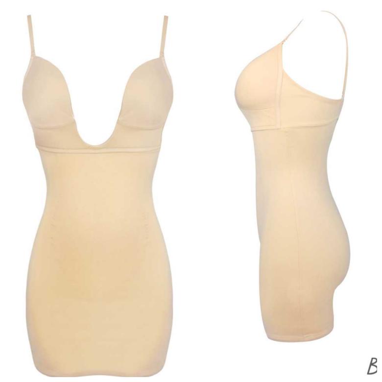 Image of Cq deep cut firm undergarment( dress tan)
