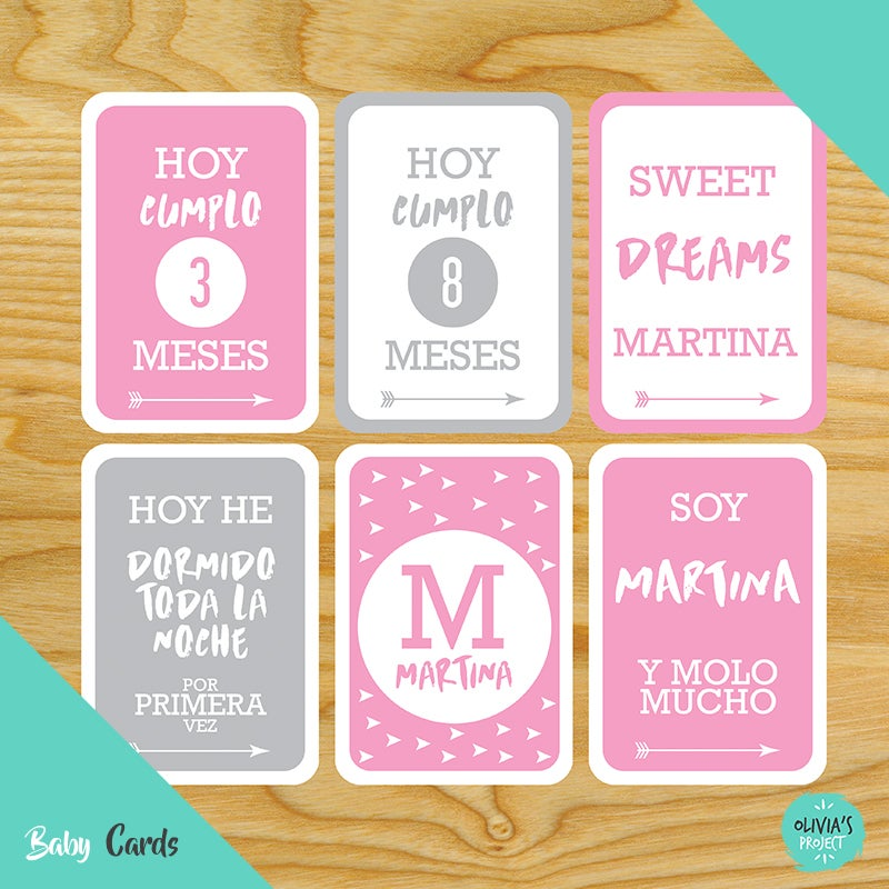 Image of Baby Cards Modelo Pop Niña (Varios colores)