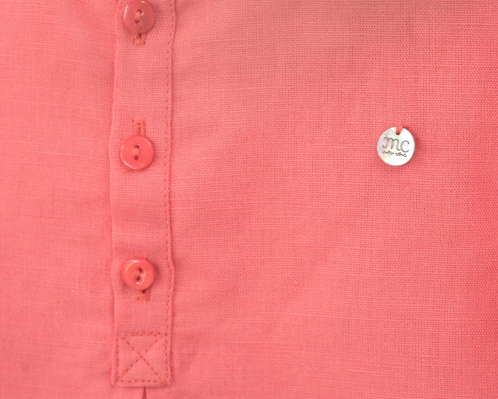 Image of CAMISA MAO LINO CORAL - ANTES 32€