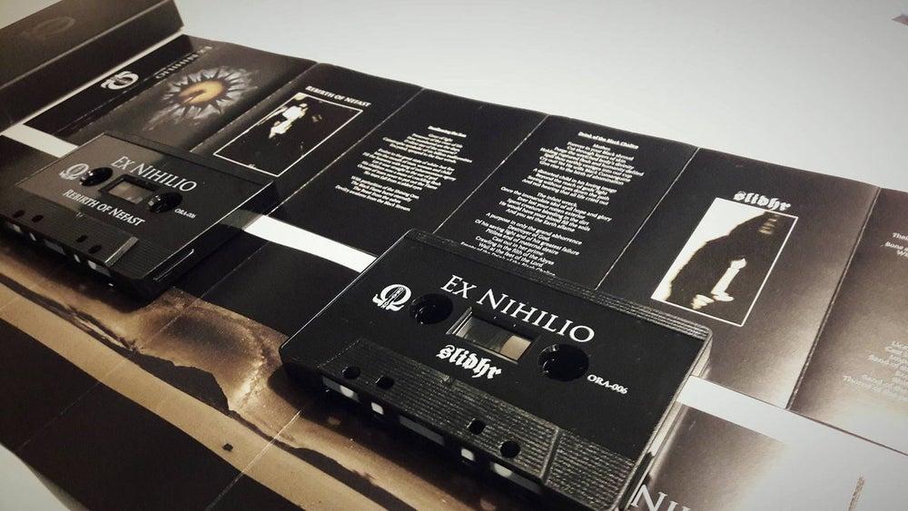 Image of Rebirth of Nefast/Slidhr - Ex Nihilio - Cassette (ORA-006) w/slipcase