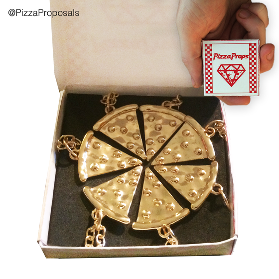 Image of Pizza Slice Friendship Necklaces - 7 Slices