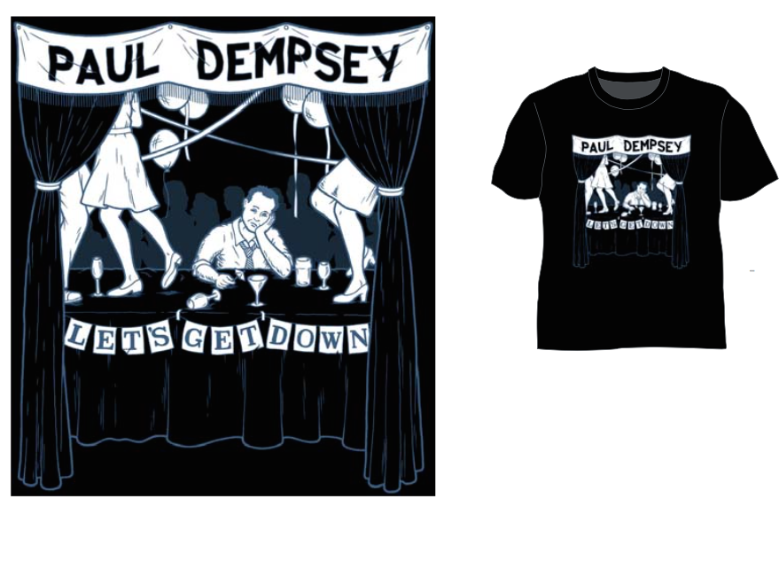 Image of Paul Dempsey 'Lets Get Down' Tee - Black