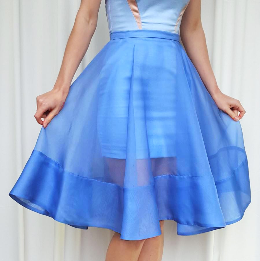 image of irisa silk organza skirt