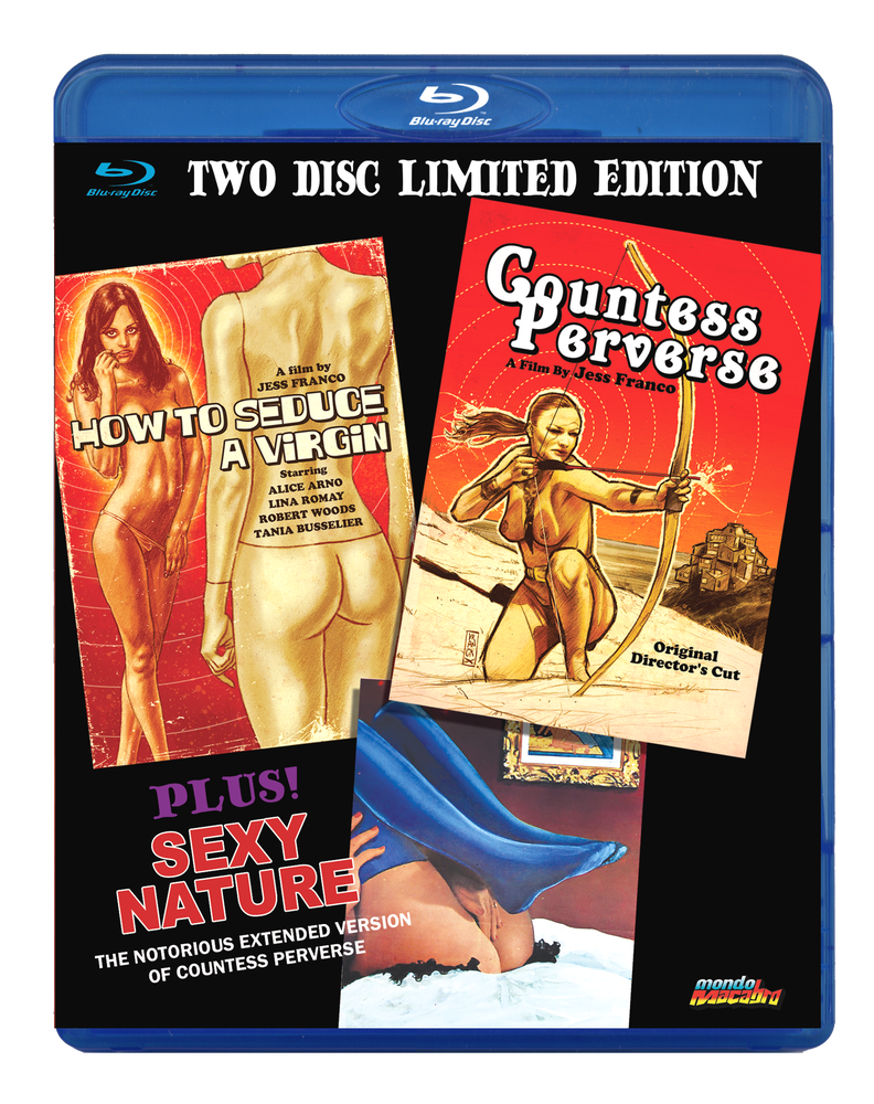Image of JESS FRANCO TRIPLE BILL 2-disc limited edition Blu-ray