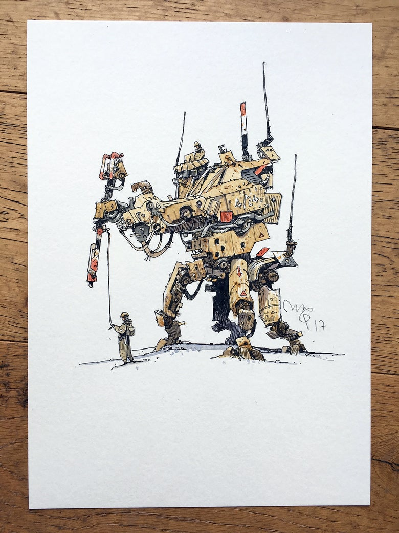 "Image of ""Super Monkey Tank III"" original artwork."