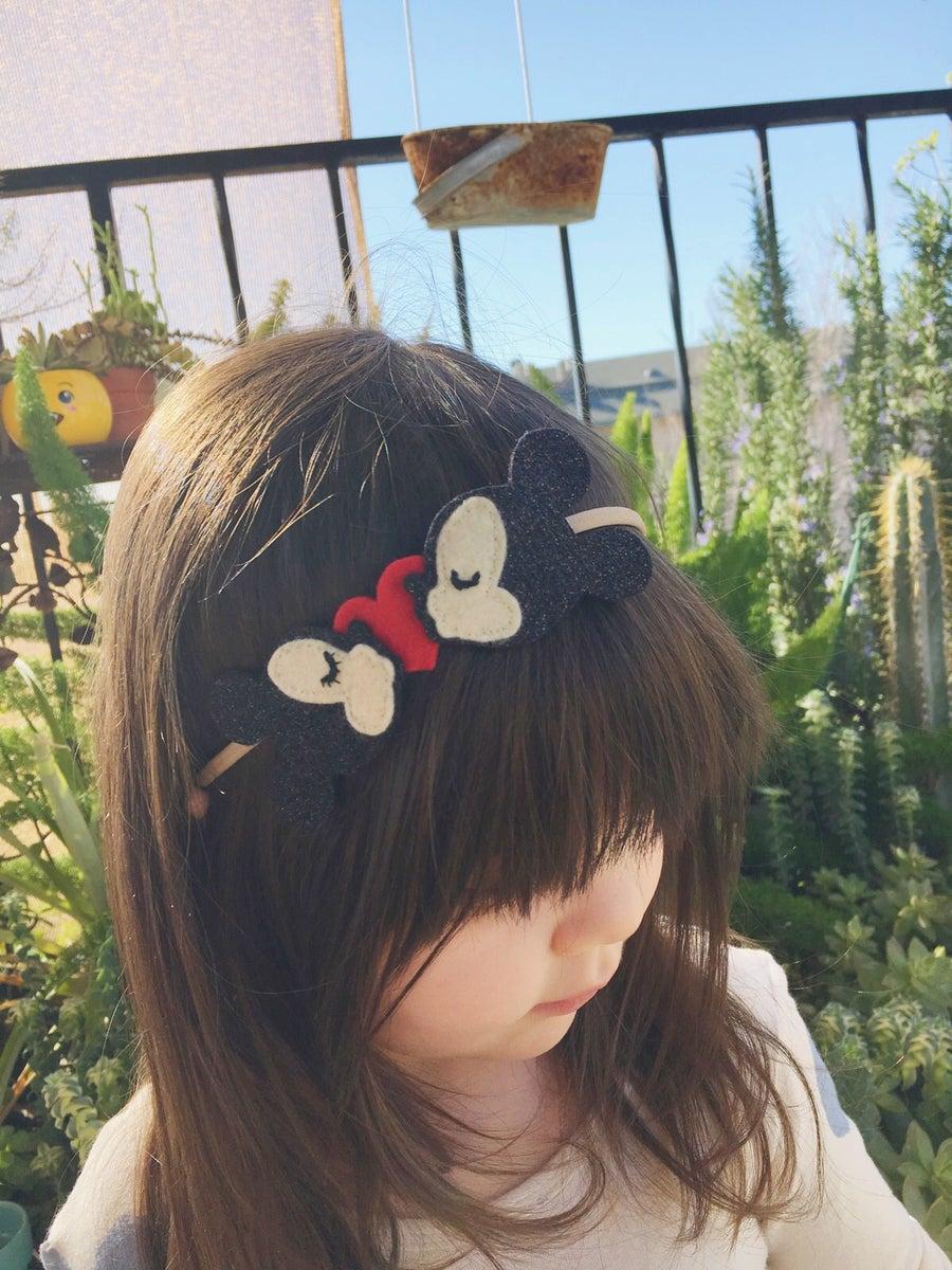 Image of Mickey & Minnie Love Headband - PREORDER