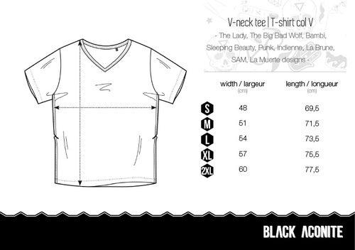 Image of La Brune - Tee-shirt col V homme