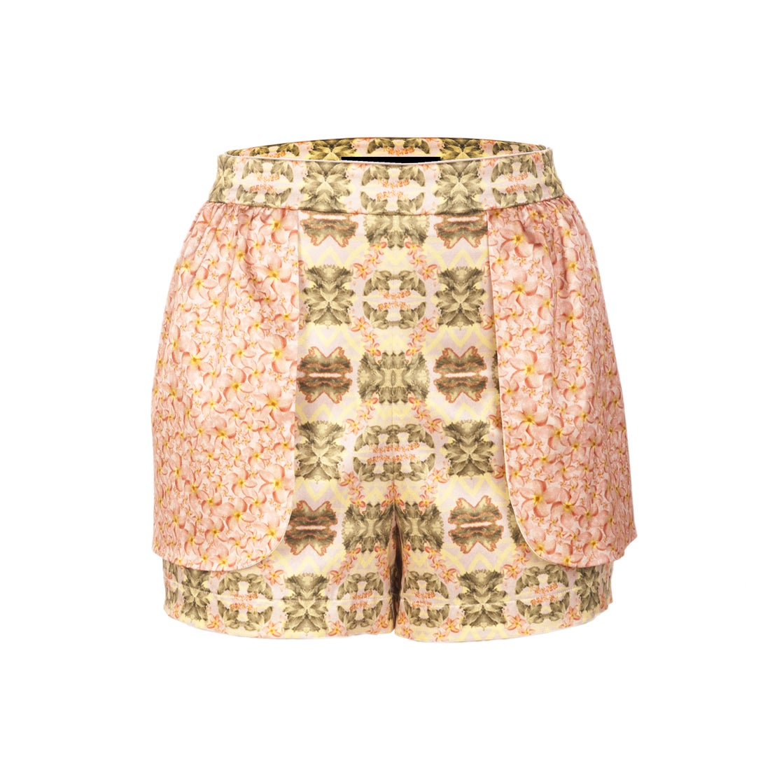 Image of FRILL SHORTS| Ariel Yellow