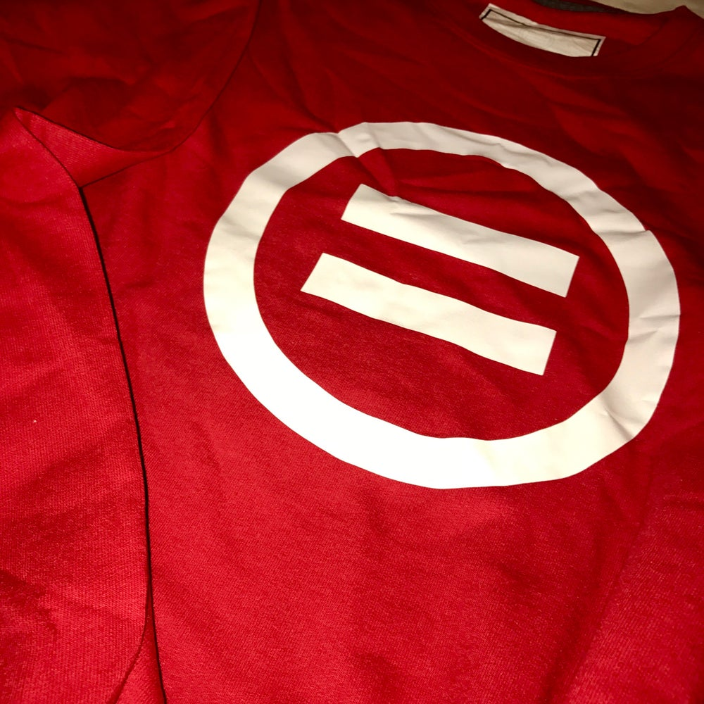 Image of Signature Equal Logo Crewneck in Red