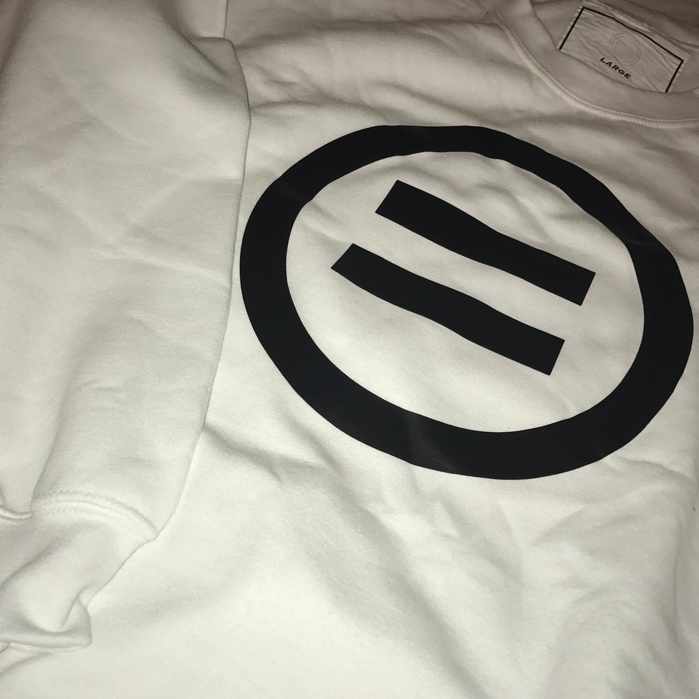 Image of Signature Equal Logo Crewneck in White