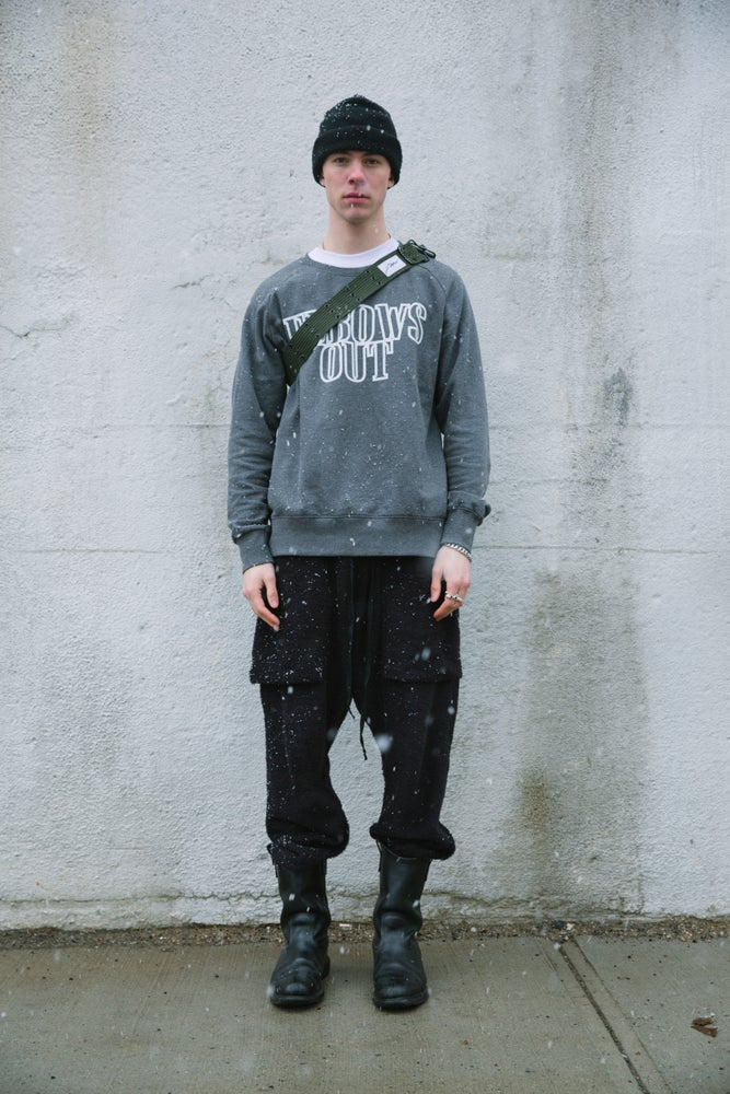 Image of ELBOWS OUT CREWNECK