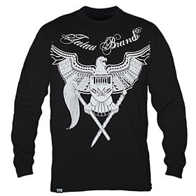 Image of TATAU WAR EAGLE LONG SLEEVE BLACK