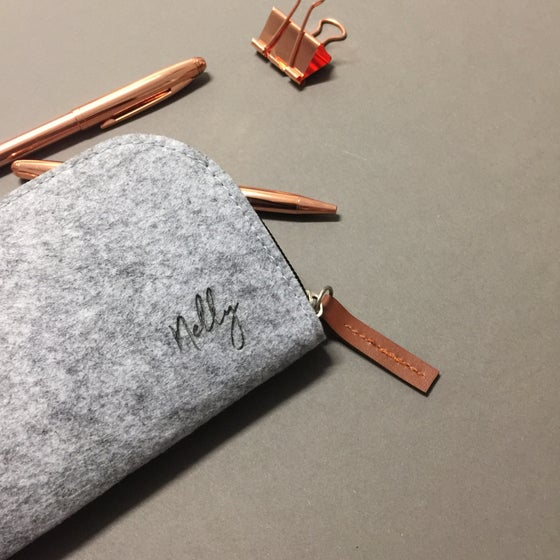 Image of Felt personalised pencil case
