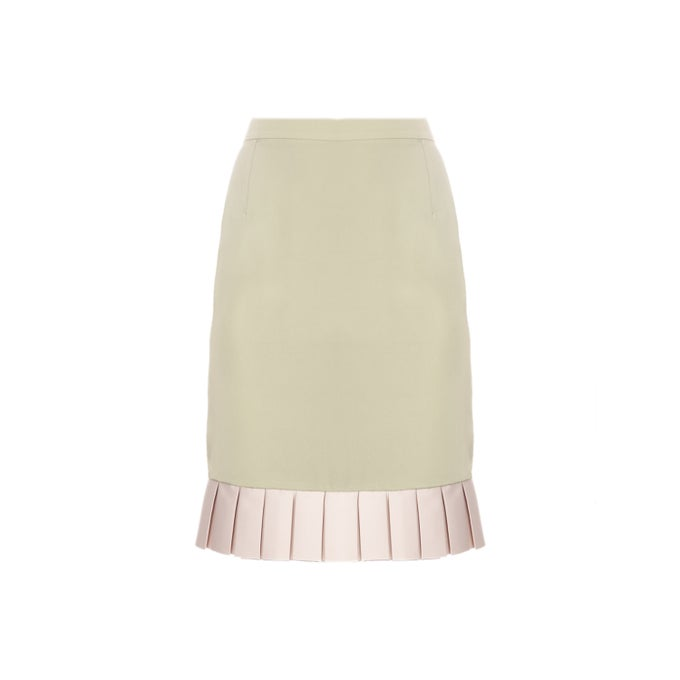Image of PLISSE SKIRT| Green