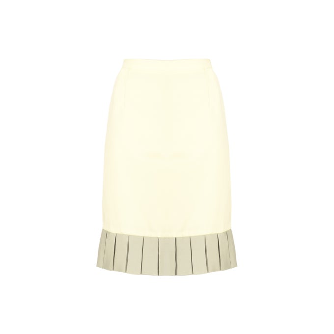 Image of PLISSE SKIRT| Yellow