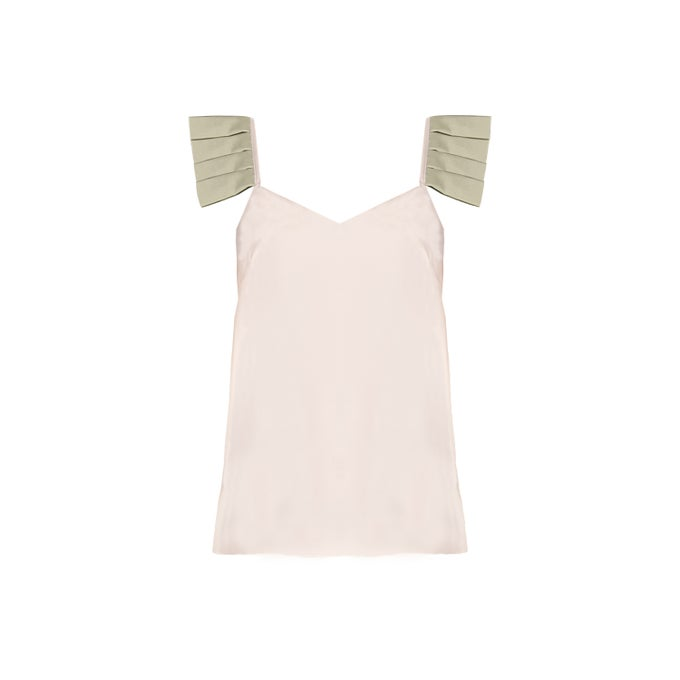 Image of PLISSE TANK| GREEN
